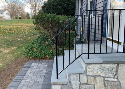 Terryville, CT – Stone Steps & Walkway Pavers Masonry Construction Project