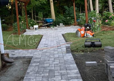 Stone Patio Walkway in Oxford, CT