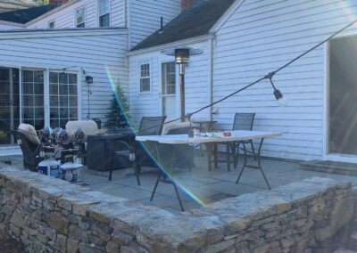 Stone Patio & Stone Wall Project in West Hartford, CT