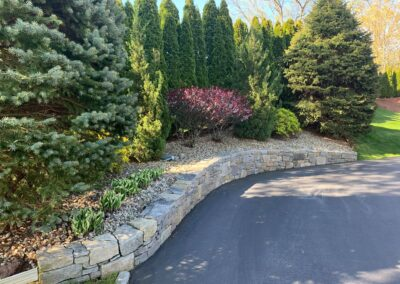 Stone Retaining Wall Project