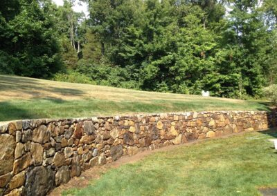 Stone Wall Project Retaining Wall Contractor in Wallingford, CT