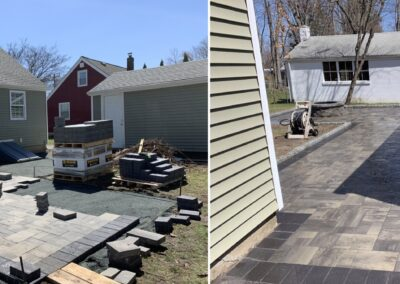 Stone Paver Patio and Firepit Installation Project