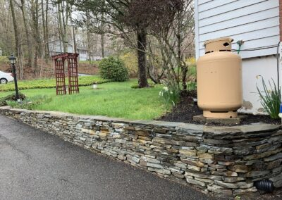 Stone Retaining Wall Construction Project